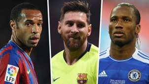 Thierry Henry Lionel Messi Didier Drogba