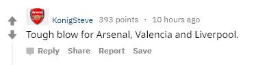 Reactions Sanchez injury