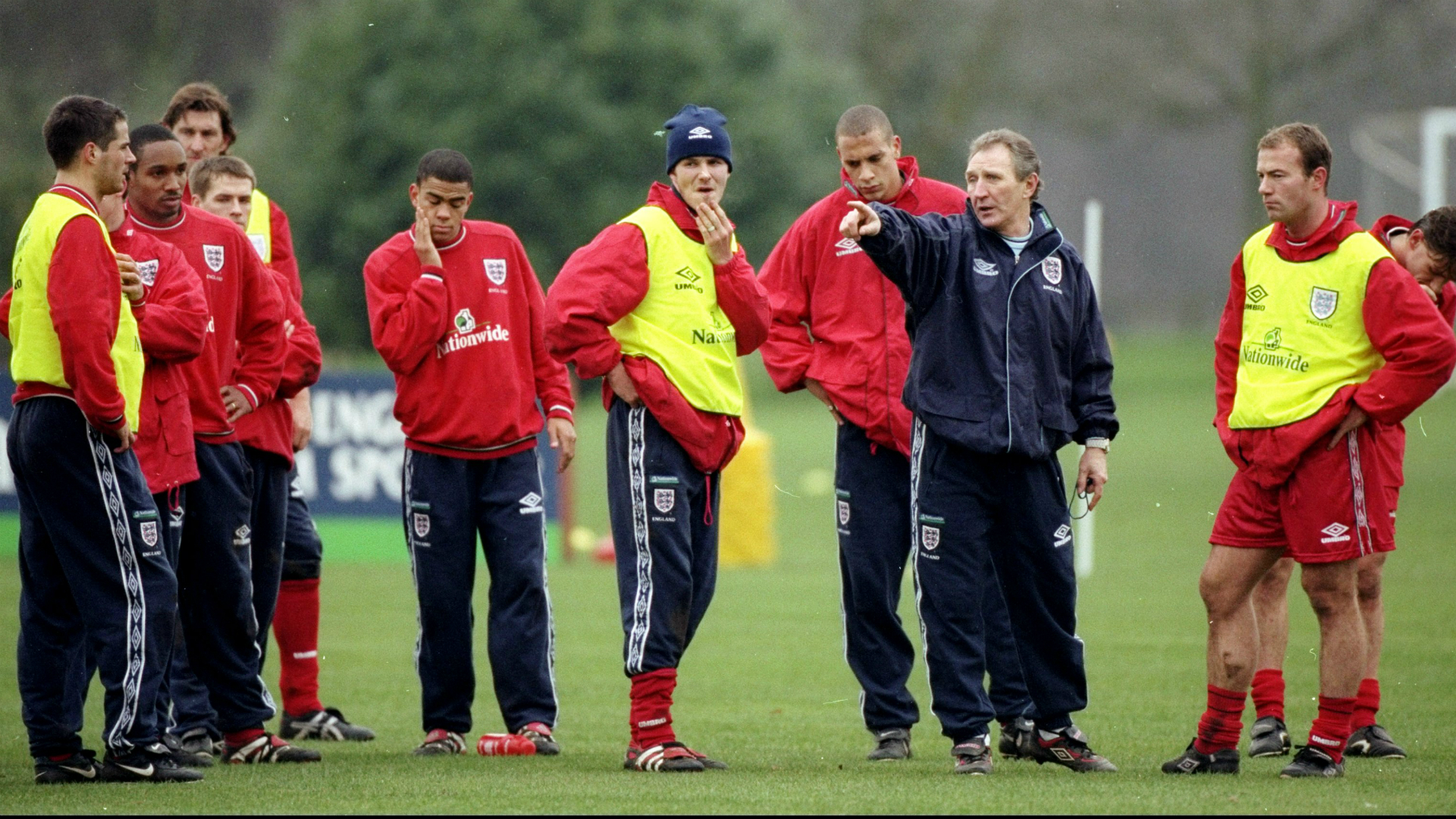 Howard Wilkinson England squad Alan Shearer David Beckham Rio Ferdinand