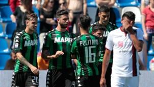 Sassuolo celebrates, Serie A, 05212017