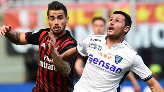 Suso Pasqual Milan Empoli Serie A
