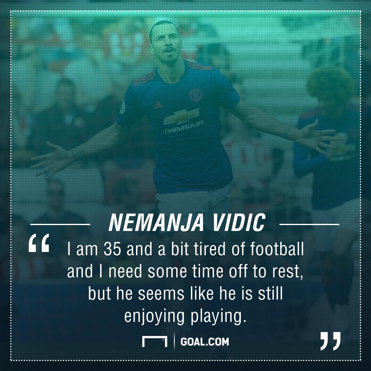 Nemanja Vidic Zlatan Ibrahimovic