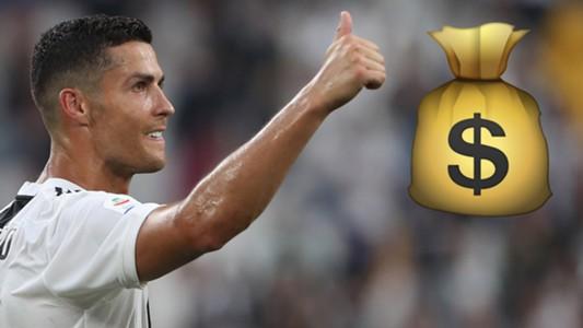 GFX Info Cristiano Ronaldo Juventus wage