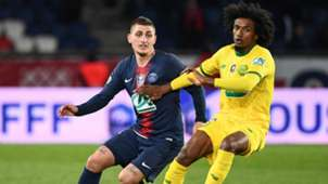 Marco Verratti Samuel Moutoussamy PSG Nantes French Cup 2019