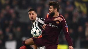 Sami Khedira Gerard Pique Juventus Barcelona