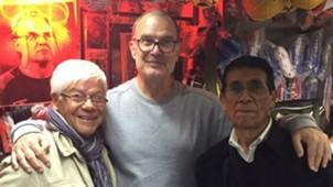 Marcelo Bielsa, en Chile, con Humberto Cruz y Gabriel Aravena