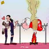 Cavani Neymar Ancelotti Cartoon