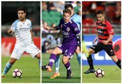 Bruno Fornaroli Melbourne City Adam Taggart Perth Glory Nico Martinez Western Sydney Wanderers A-League