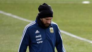 Lionel Messi, Argentina training