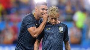 Neymar Casemiro pre match Brazil Switzerland World Cup 17062018