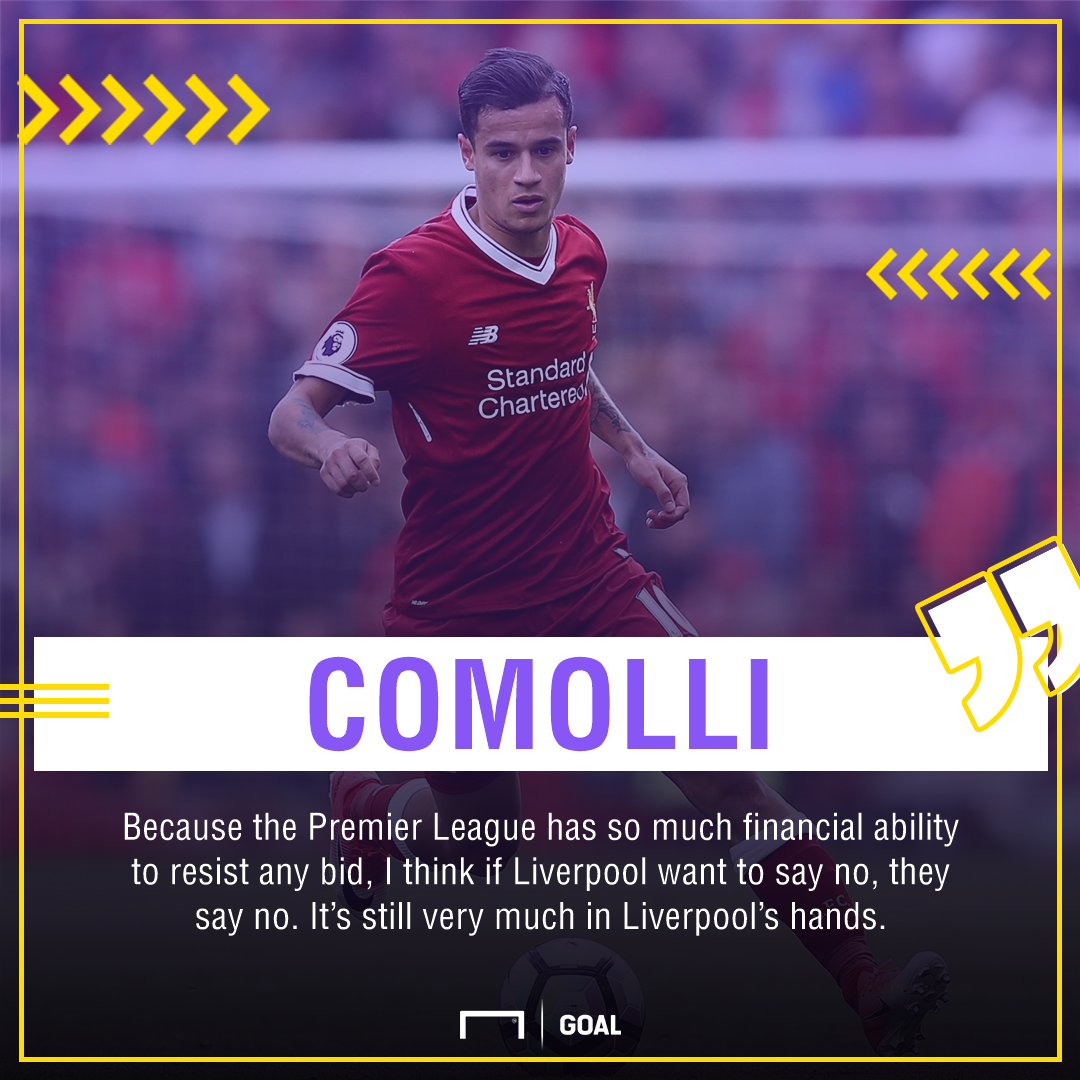 Philippe Coutinho Damien Comolli Liverpool Barcelona