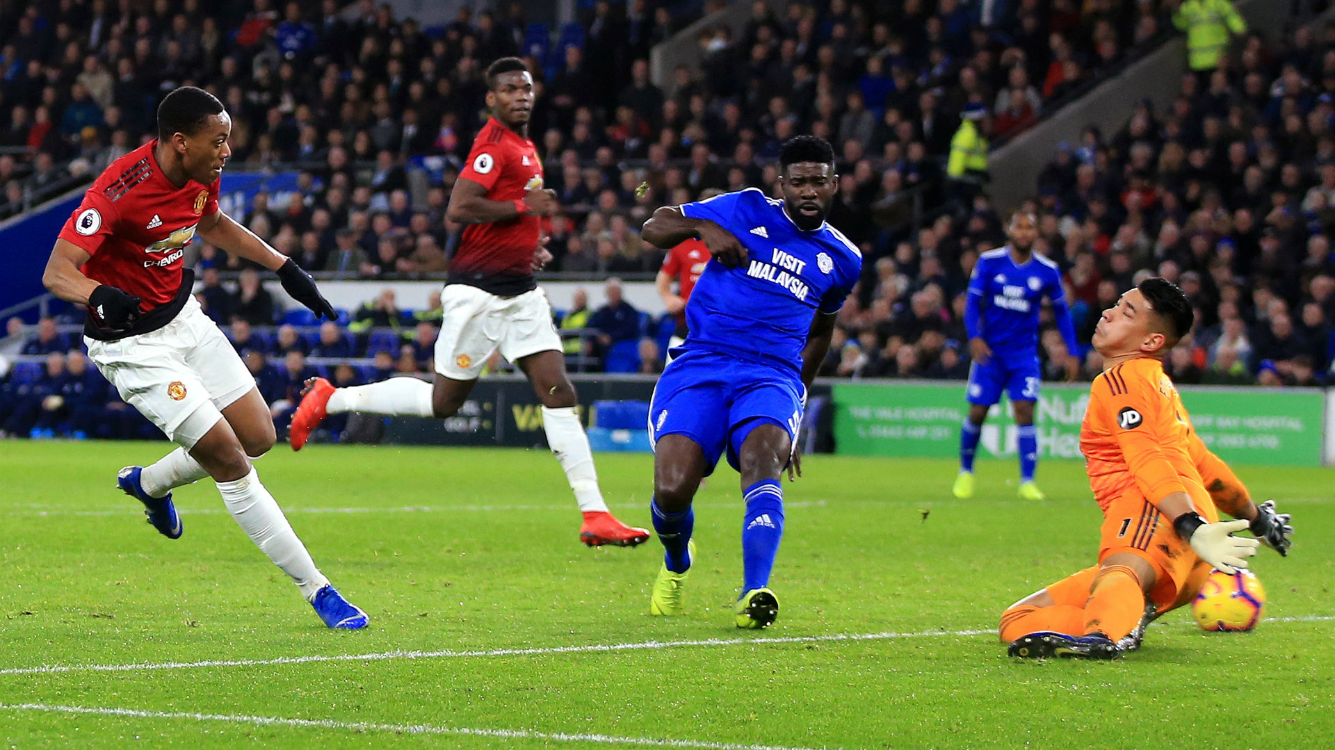 Anthony Martial Cardiff vs Manchester United Premier League 2018-19