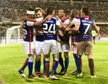 Kelantan celebrating their goal against Perak 1/3/2017