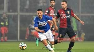 Gianluca Caprari Andrea Bertolacci Sampdoria Genoa Serie A