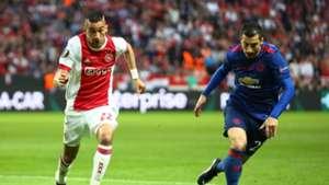Hakim Ziyech Ajax Henrikh Mkhitaryan Manchester United