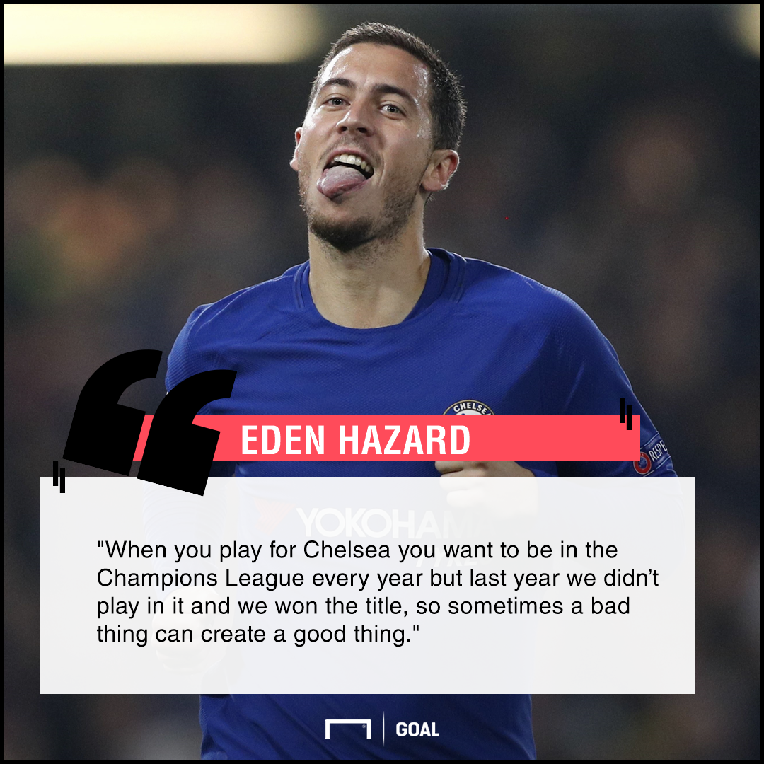 Eden Hazard Champions League failure a good thing