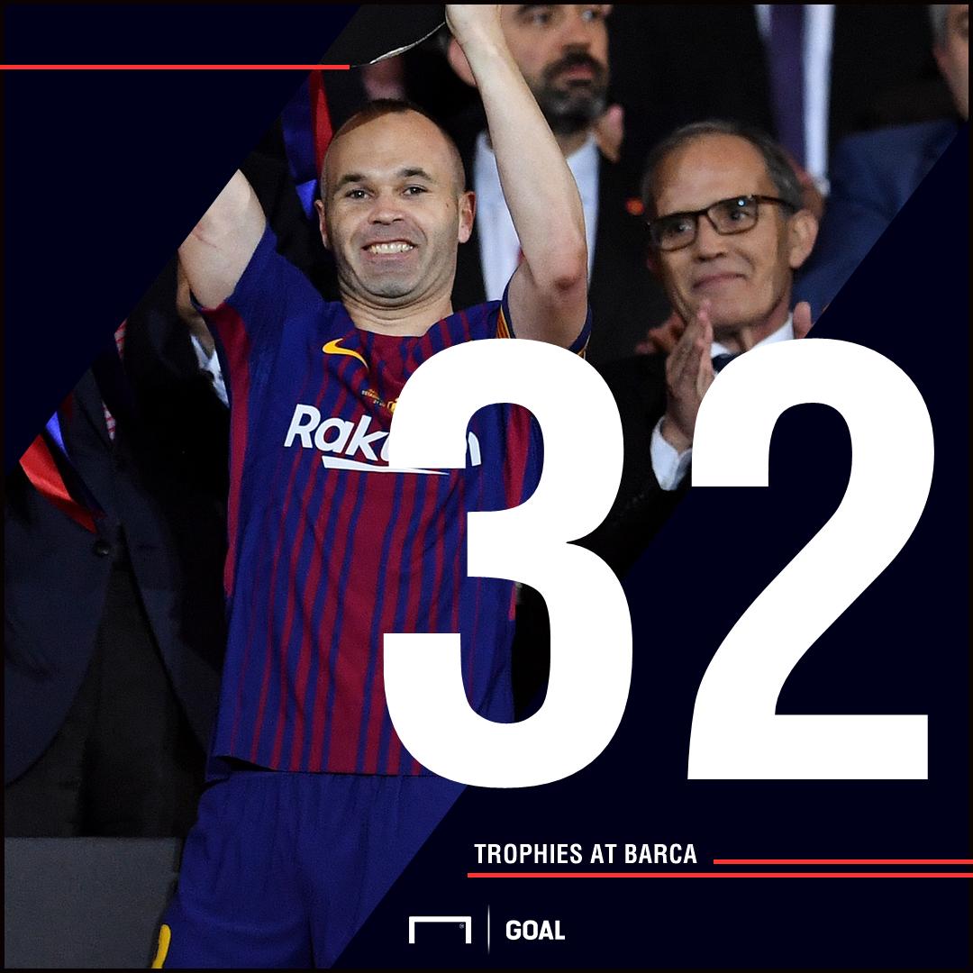 Iniesta trophies graphic