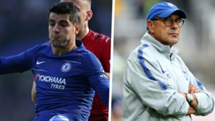 Alvaro Morata Maurizio Sarri Chelsea