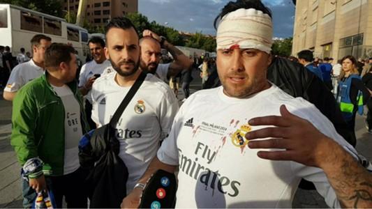 Real Madrid fan blood