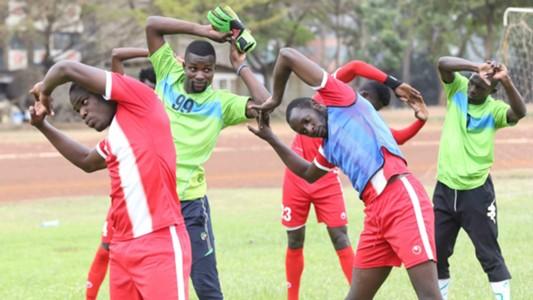 Harambee Stars players in training