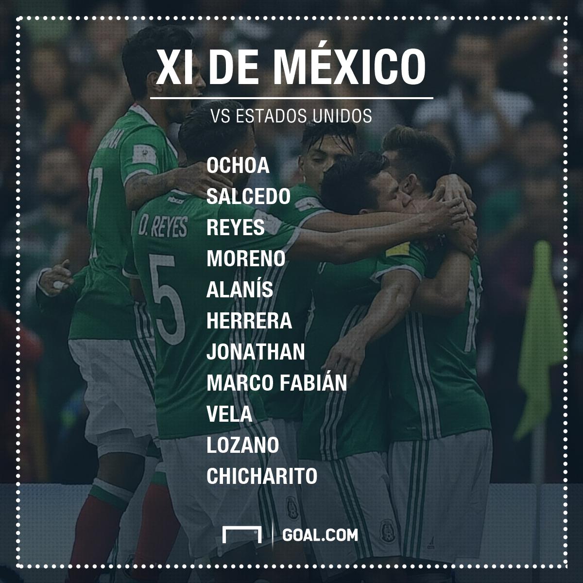 XI México vs EU Eliminatoria junio 2017