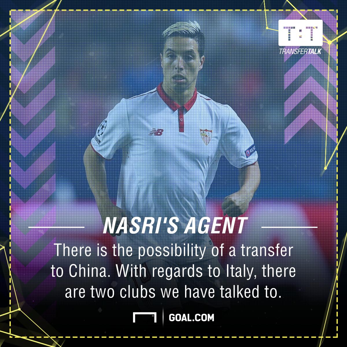 Samir Nasri agent CSL Serie A
