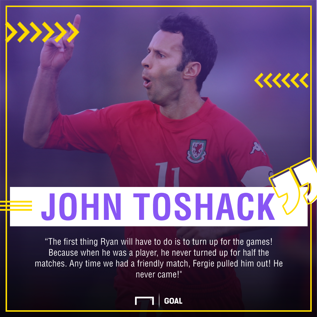 Ryan Giggs John Toshack never played friendly games