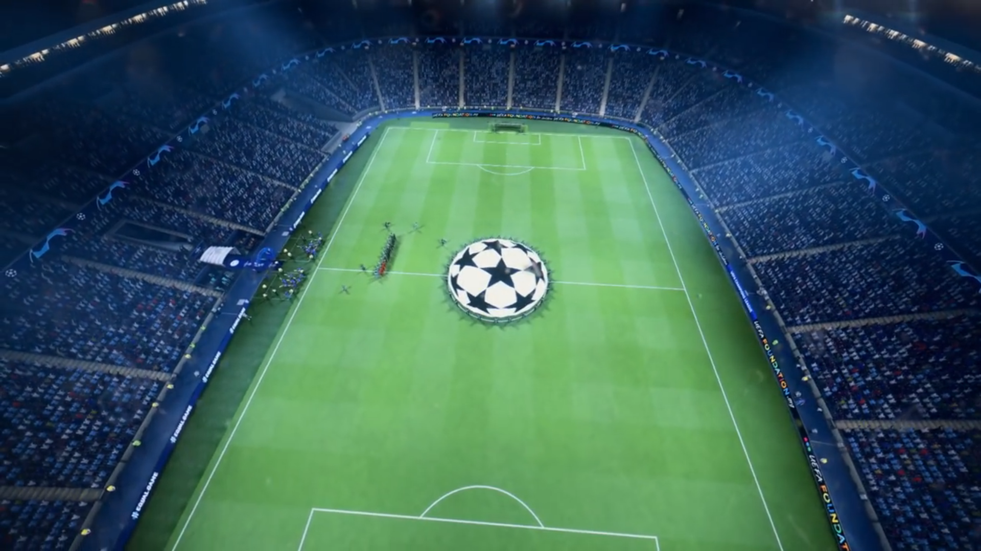 Champions League FIFA 19 game footage