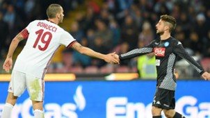 Bonucci Mertens Napoli Milan Serie A