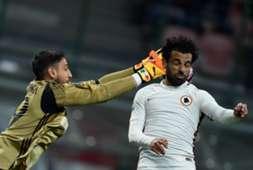 Gianluigi Donnarumma Mohamed Salah Milan Roma Serie A 07052017