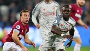 Mark Noble, Sadio Mane, West Ham vs Liverpool