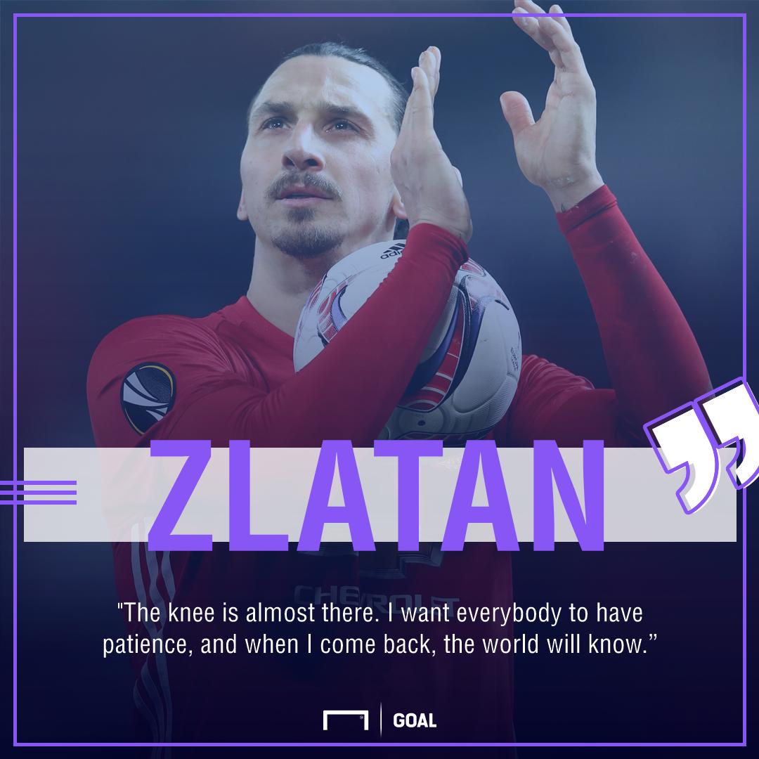 Zlatan Ibrahimovic knee recovery
