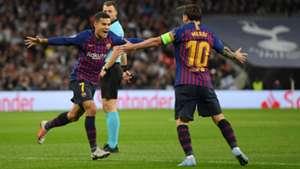 FC Barcelona Lionel Messi Coutinho 03102018