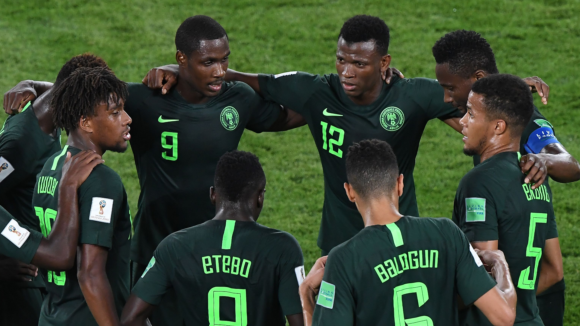 Nigeria huddle