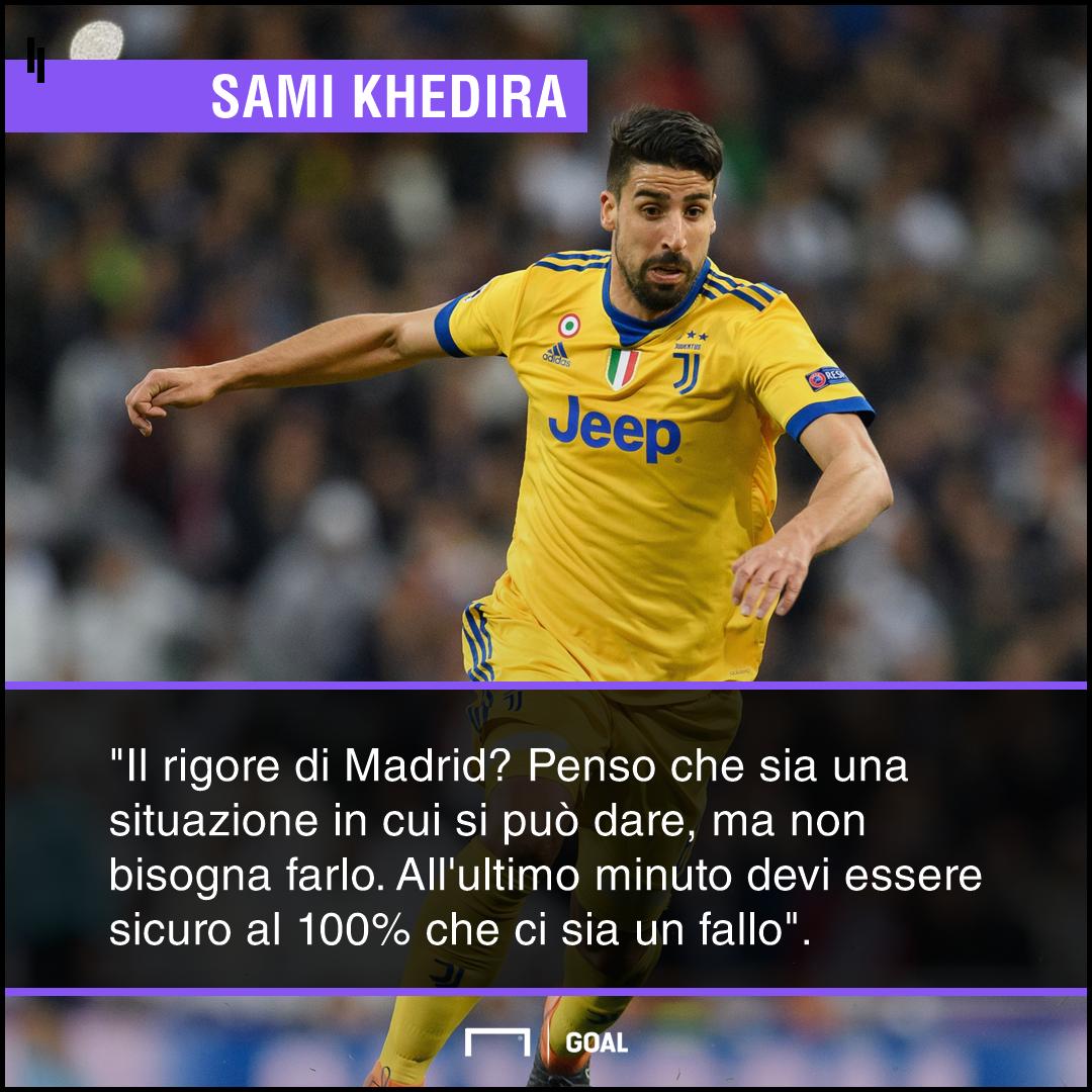 Real-Juve, Khedira: 'Siamo ancora tristi, non si può dare un rigore così'