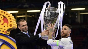 Sergio Ramos Real Madrid Champions League trophy