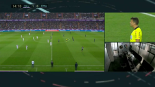 Valladolid - Real Madrid VAR caption in La Liga game