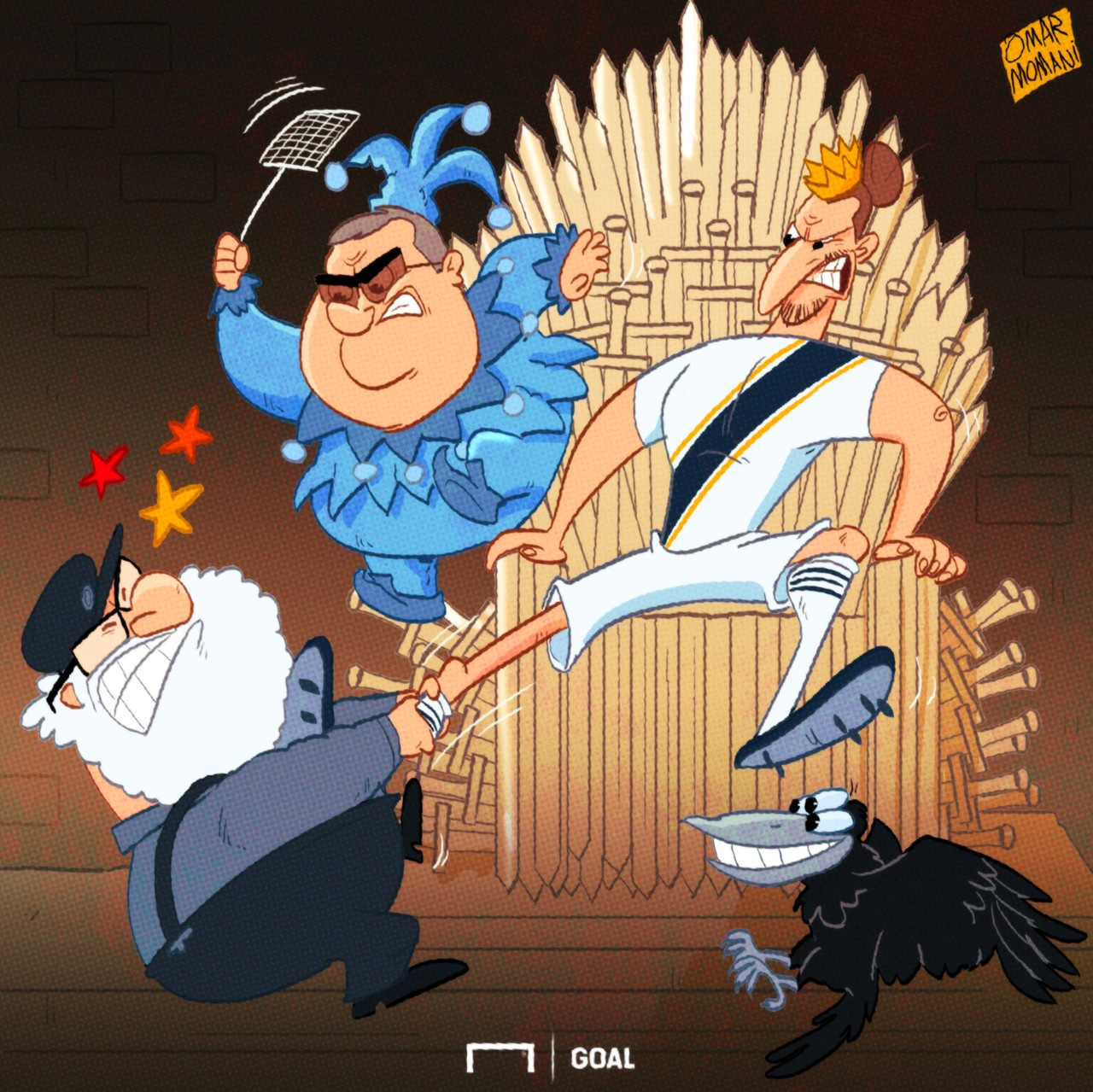 Zlatan Game of Thrones Cartoon
