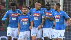 Napoli celebrating