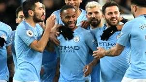 Manchester City celebrate 2018-19
