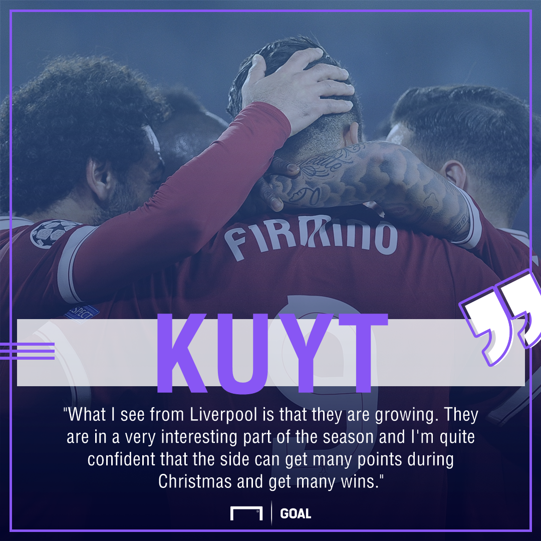 Dirk Kuyt Liverpool Christmas many points