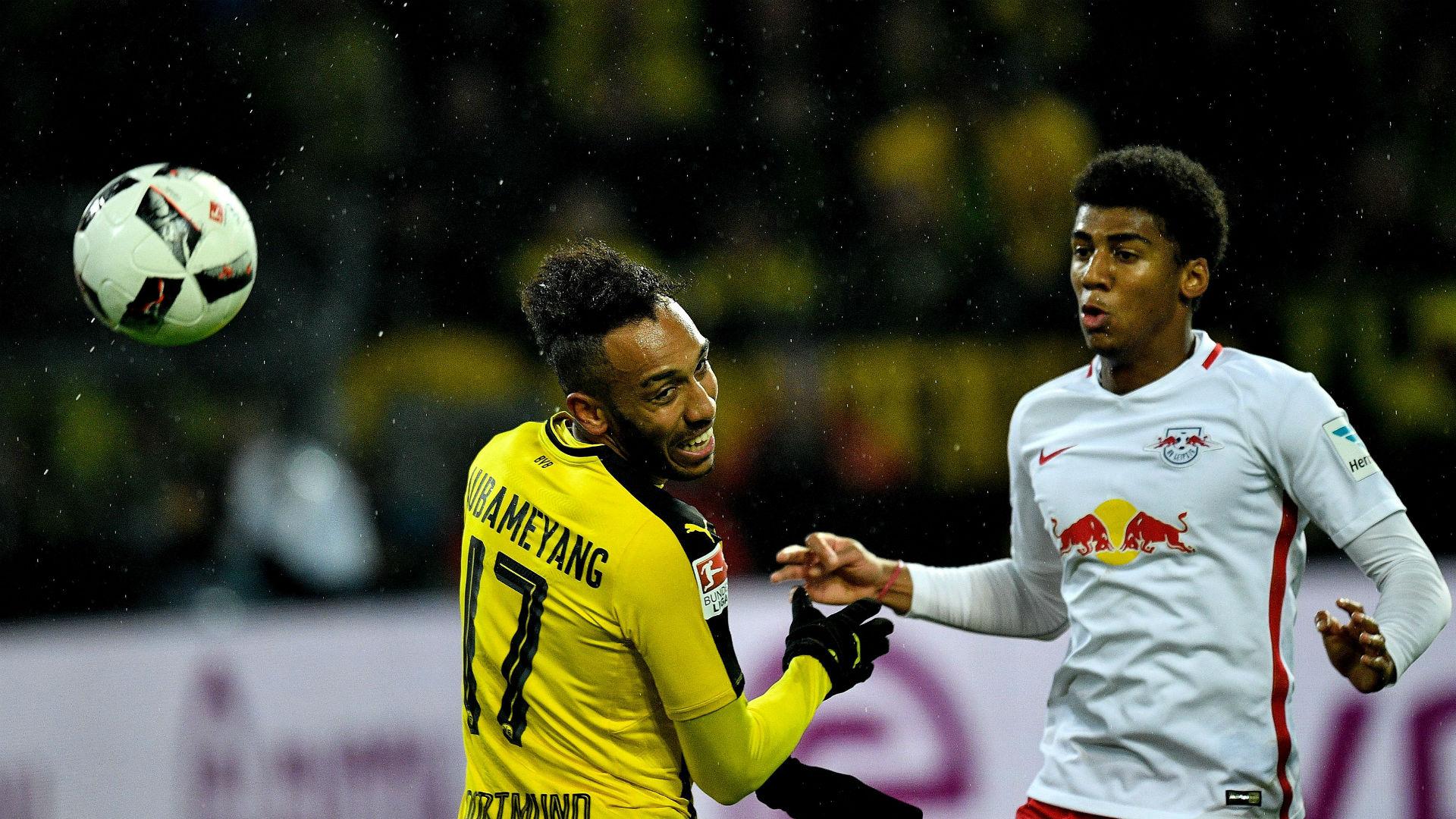 Bernardo Aubameyang RB Leipzig Dortmund Bundesliga 06 04 2017