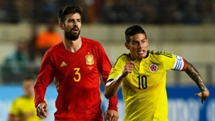 Gerard Pique James Rodriguez Spain Colombia Friendly 07062017