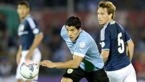 Luis Suarez Uruguay Lucas Biglia Argentina 2013
