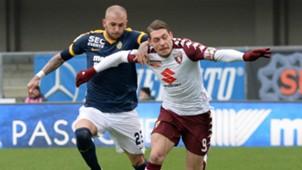 Simone Calvano, Andrea Belotti, Verona, Torino, Serie A, 25022018