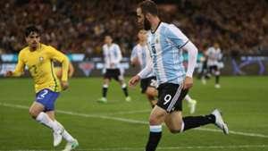 Gonzalo Higuain Brasil Argentina Friendlies 09062017