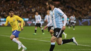 Gonzalo Higuain Brasil Argentina Friendlies 09062017