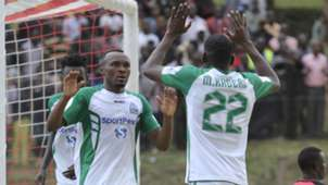 Gor Mahia striker Meddie Kagere and Jacques Tuyisenge.