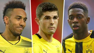 Aubameyang Pulisic Dembele Dortmund