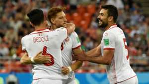 Tunisia celebration World Cup